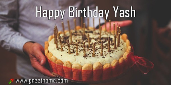Happy Birthday Yash Cake Man Greet Name