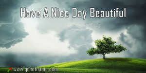 Have A Nice Day Beautiful Morning Cloud