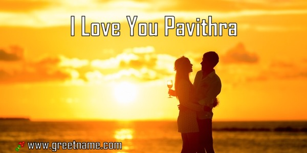 I Love You Pavithra Couple Standing