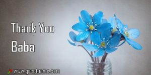 Thank You Baba Rose Flower Dew