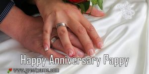 Happy Anniversary Pappy Touching Hands
