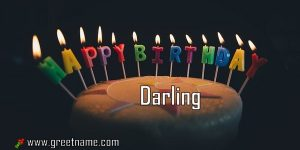 Happy Birthday Darling Cake Candle