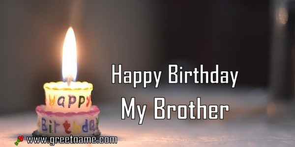 Happy Birthday My Brother Candle Fire