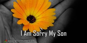 I Am Sorry My Son Flower In Hand