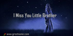 I Miss You Little Brother Women Standing