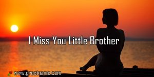 I Miss You Little Brother Women Waiting