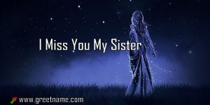 I Miss You My Sister Women Standing