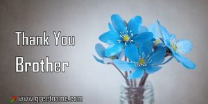 Thank You Brother Rose Flower Dew