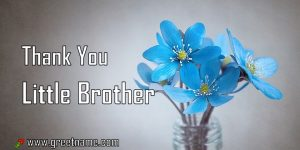 Thank You Little Brother Rose Flower Dew