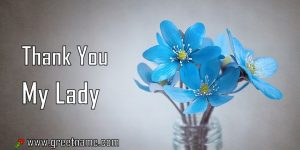 Thank You My Lady Rose Flower Dew