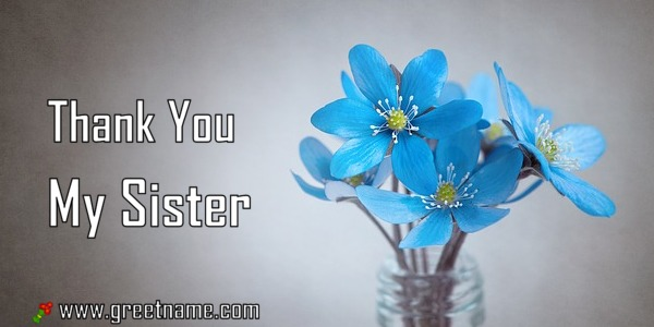 thank you my sister rose flower dew