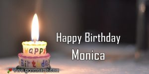 Happy Birthday Monica Candle Fire