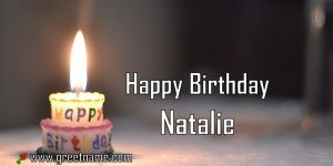 Happy Birthday Natalie Candle Fire