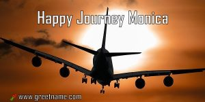 Happy Journey Monica Aircraft Flying