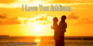 I Love You Addison Couple Standing