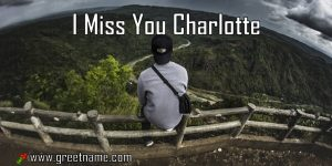 I Miss You Charlotte Man On Bench