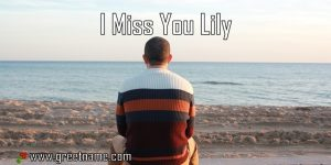 I Miss You Lily Man Sitting