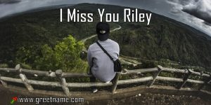 I Miss You Riley Man On Bench