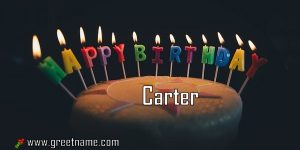 Happy Birthday Carter Cake Candle