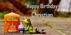 Happy Birthday Christian Candle Frog