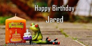 Happy Birthday Jared Candle Frog
