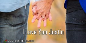 I Love You Justin Couple Holding Hands