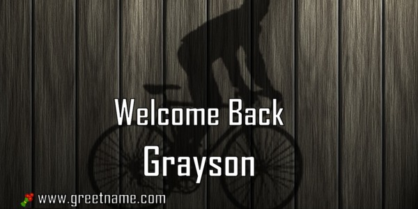 Welcome Back Grayson Men Cycling