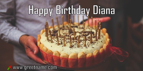 Happy Birthday Diana Cake Man Greet Name