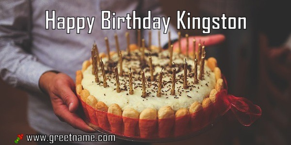 Brilliant Happy Birthday Kingston Cake Man Greet Name Funny Birthday Cards Online Fluifree Goldxyz